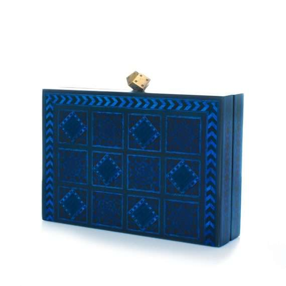 dama blue bags blue day novelty oriental side
