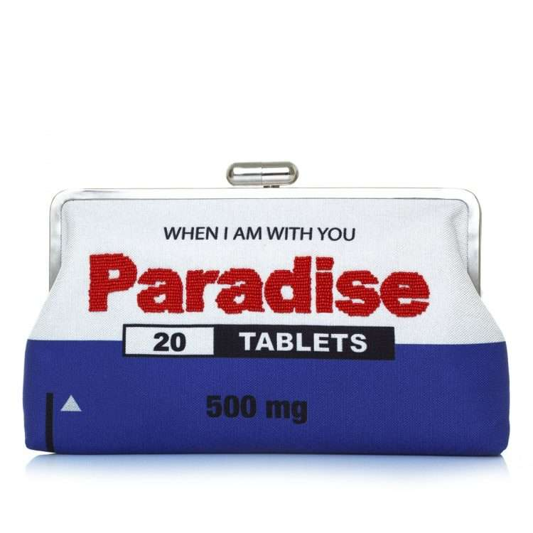 paradise clutch me bags blue white clutch me day handwork retail therapy front