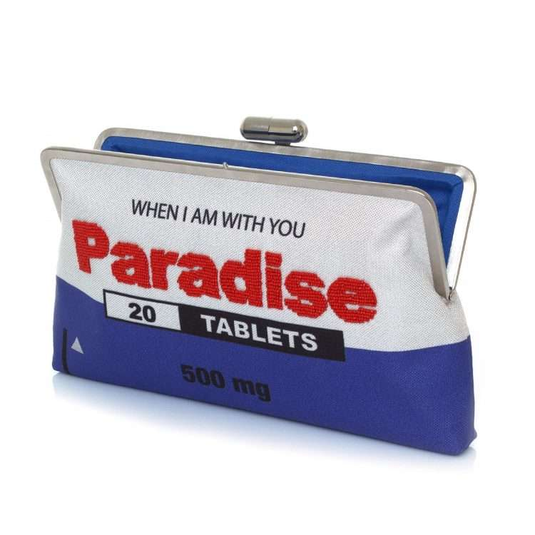 paradise clutch me bags blue white clutch me day handwork retail therapy open