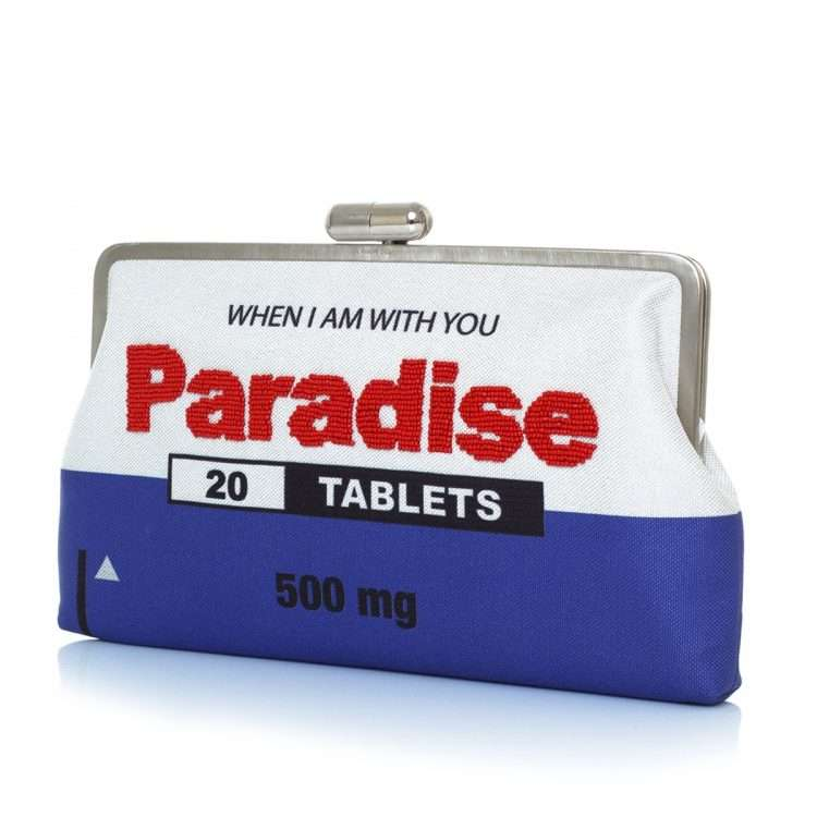 paradise clutch me bags blue white clutch me day handwork retail therapy side