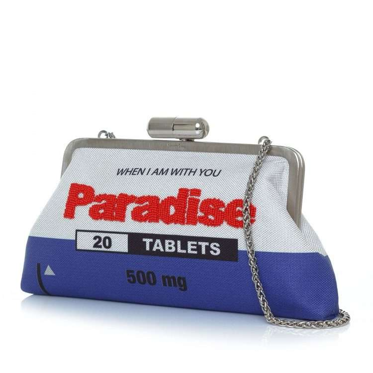 paradise classic bags blue white classic day handwork retail therapy side