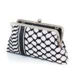 kaffieh classic bags black white classic evening handwork essentials open