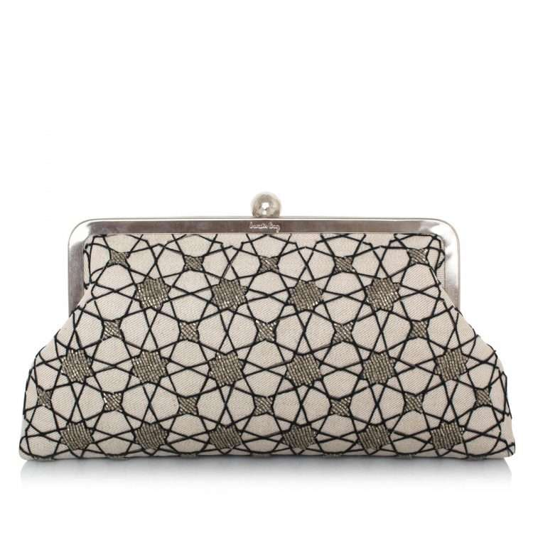 istanbul classic bags neutrals silver classic evening handwork oriental front