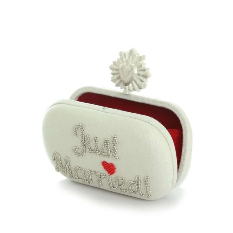 celeste just married ivory box bags white box evening handwork bridal open