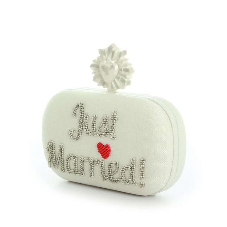 celeste just married ivory box bags white box evening handwork bridal side