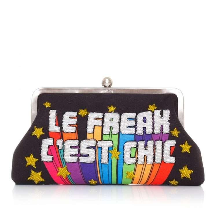 le freak classic bags black multicolor classic evening handwork discotheque front