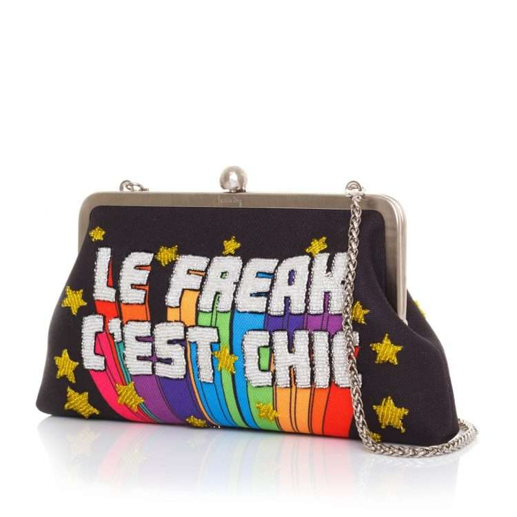 le freak classic bags black multicolor classic evening handwork discotheque side