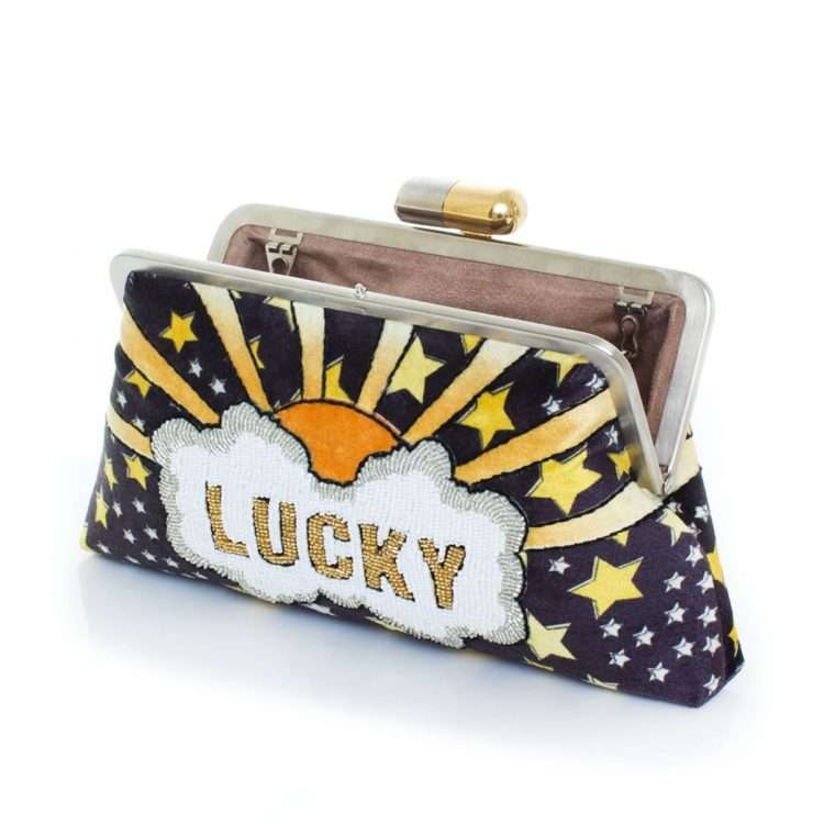 lucky gold classic bags black gold classic day handwork discotheque open