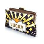 lucky gold clutch me bags black gold clutch me day handwork discotheque open