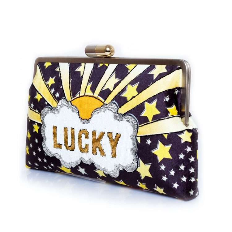 lucky gold clutch me bags black gold clutch me day handwork discotheque side