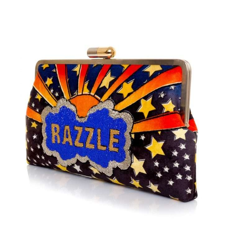 dazzle clutch me bags blue multicolor clutch me day handwork discotheque side
