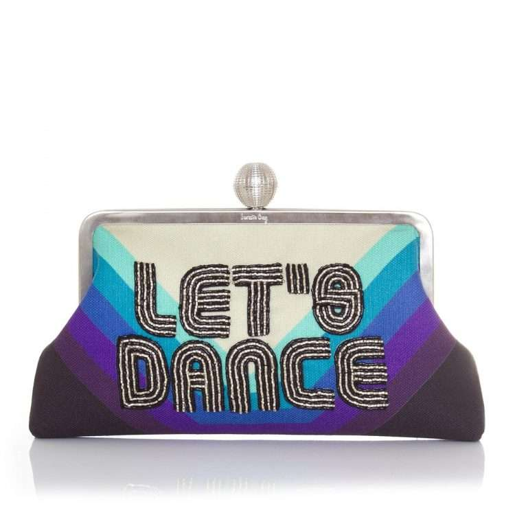 let's dance classic bags blue classic evening handwork discotheque front