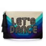 let's dance pouch bags blue pouch day handwork discotheque front