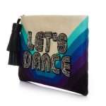 let's dance pouch bags blue pouch day handwork discotheque side