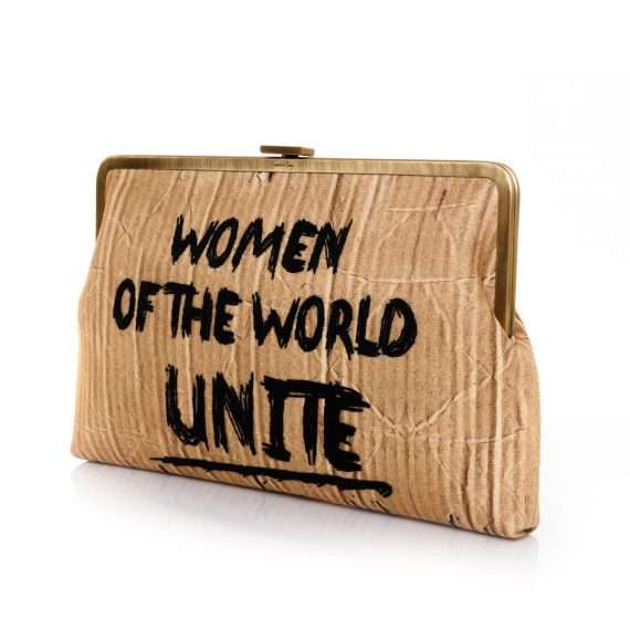woman unite clutch me bags neutrals clutch me day handwork rise up side