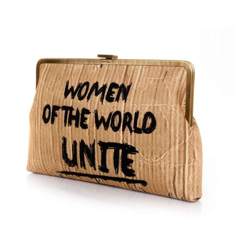 woman unite clutch me bags neutrals clutch me day handwork rise up side