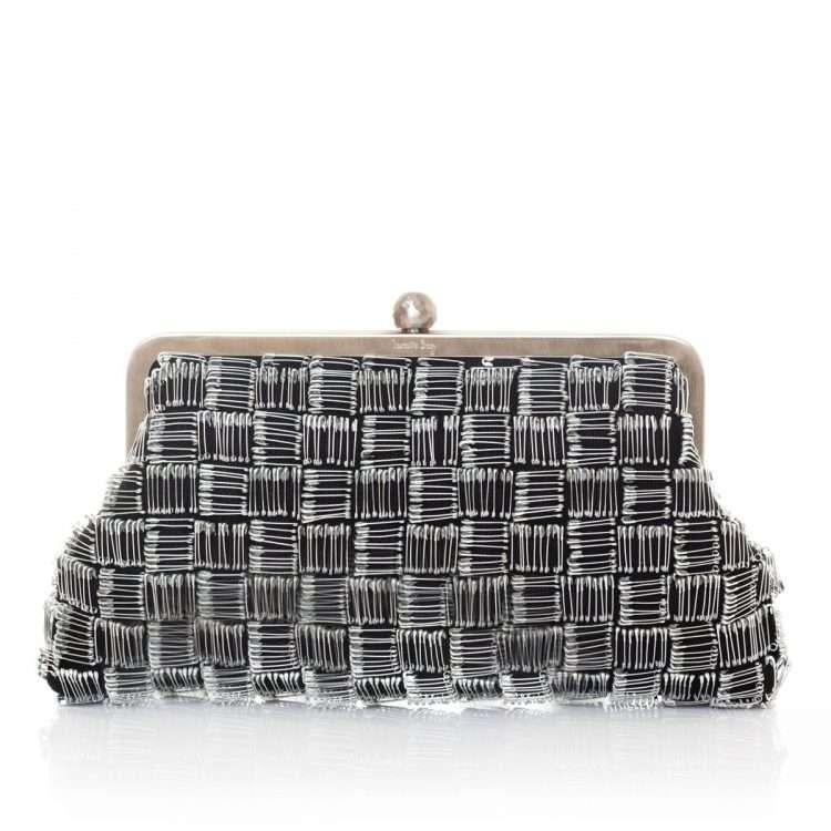 pins black classic bags black metallic silver classic evening handwork essentials red carpet front