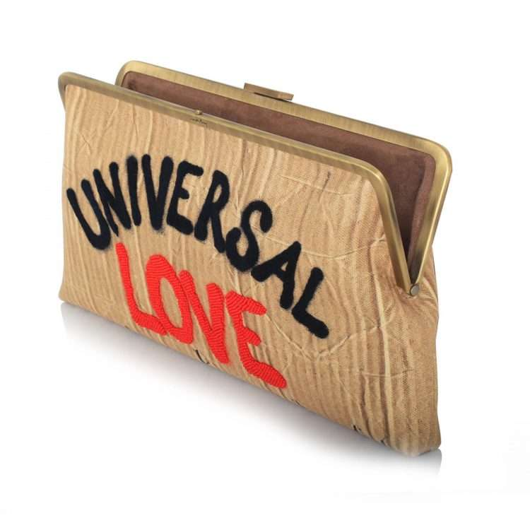universal love clutch me bags neutrals clutch me day handwork rise up open