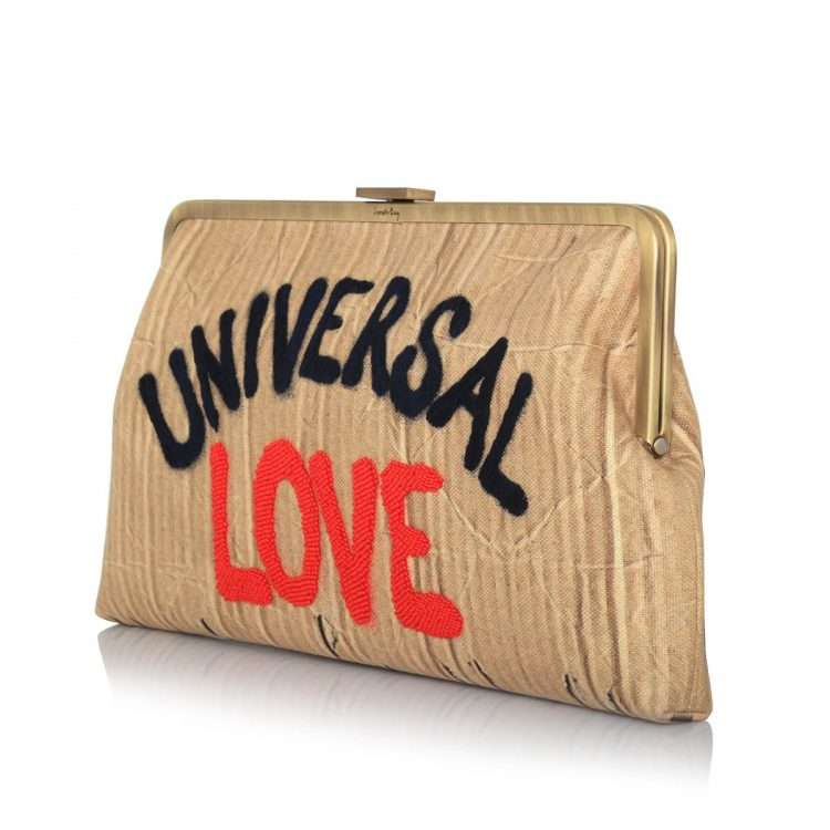 universal love clutch me bags neutrals clutch me day handwork rise up side