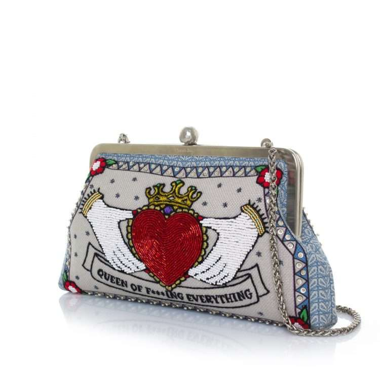 queen classic bags neutrals red classic day handwork love inked side