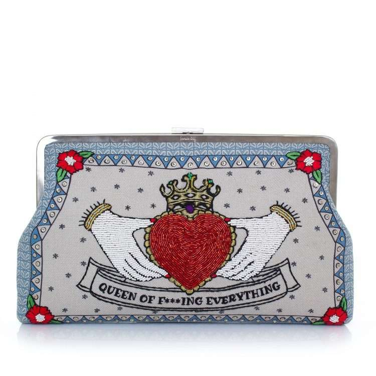 queen clutch me bags pastels red clutch me day handwork love inked front