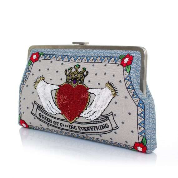 queen clutch me bags pastels red clutch me day handwork love inked side