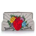 corazon clutch me bags multicolor red clutch me day handwork love inked front
