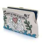 pisces clutch me bags blue pastels clutch me day handwork love inked open