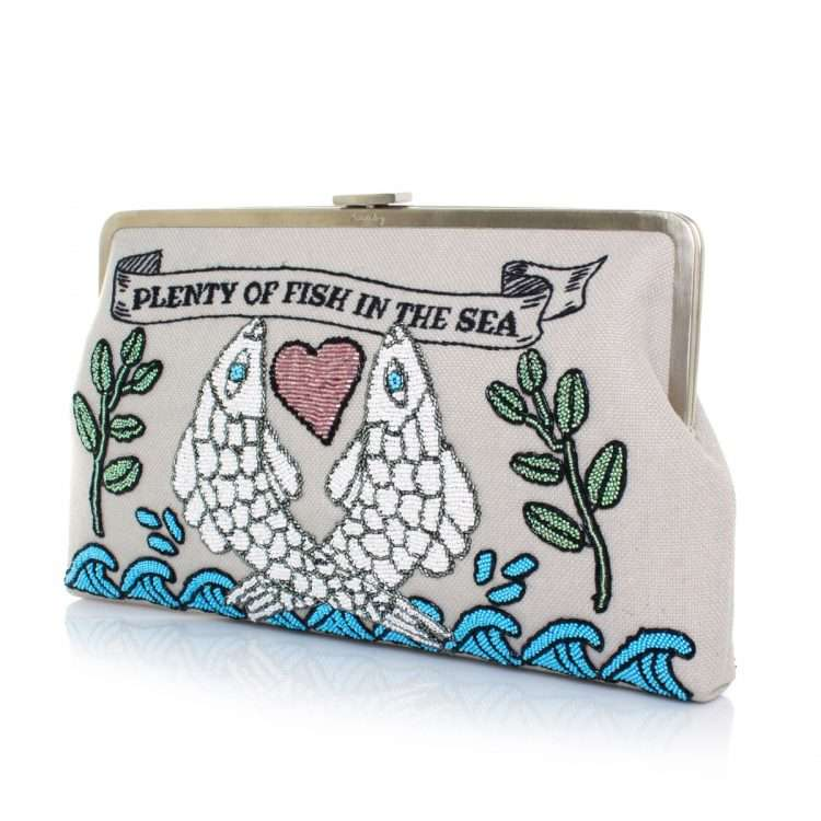 pisces clutch me bags blue pastels clutch me day handwork love inked side