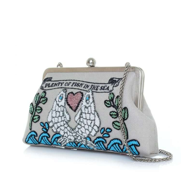 pisces classic bags blue pastels classic day handwork love inked side