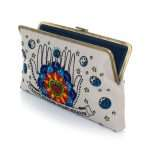 love dealer clutch me bags blue neutrals clutch me day handwork love inked open