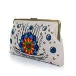 love dealer clutch me bags blue neutrals clutch me day handwork love inked side