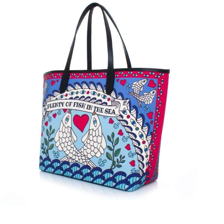 pisces caba bags blue multicolor caba day impressions love inked side