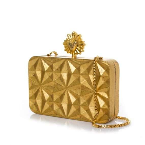 celeste gold solitaire bags gold evening novelty love inked side