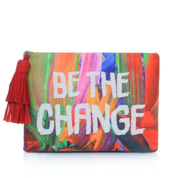 be the change pouch bags multicolor red pouch day handwork rise up front