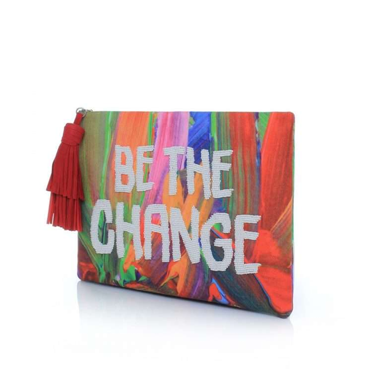 be the change pouch bags multicolor red pouch day handwork rise up side