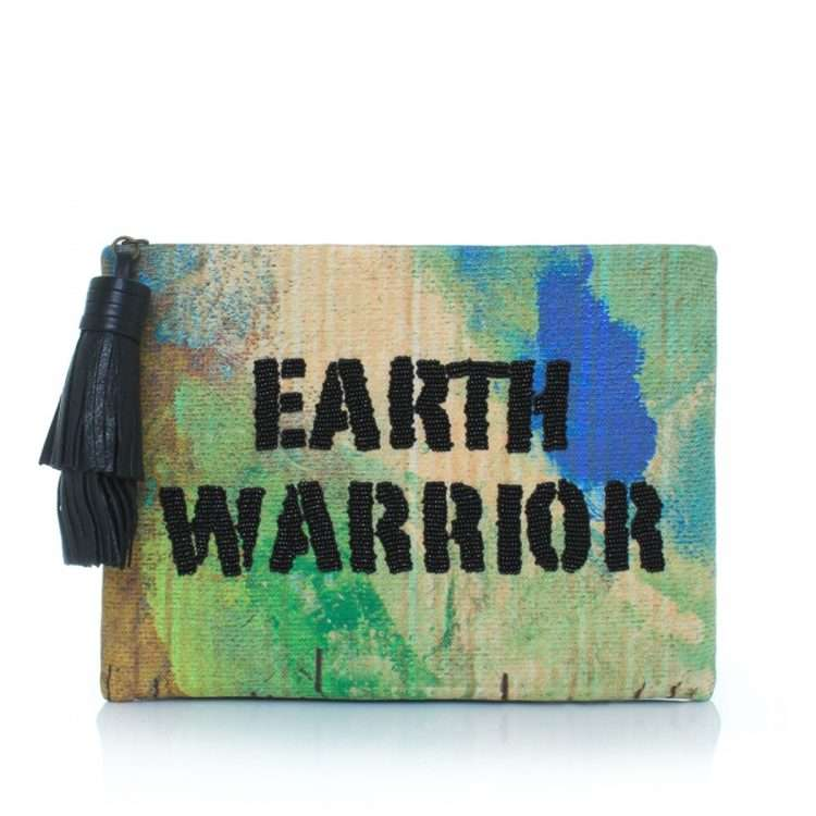 earth warrior pouch bags green multicolor pouch day handwork rise up front