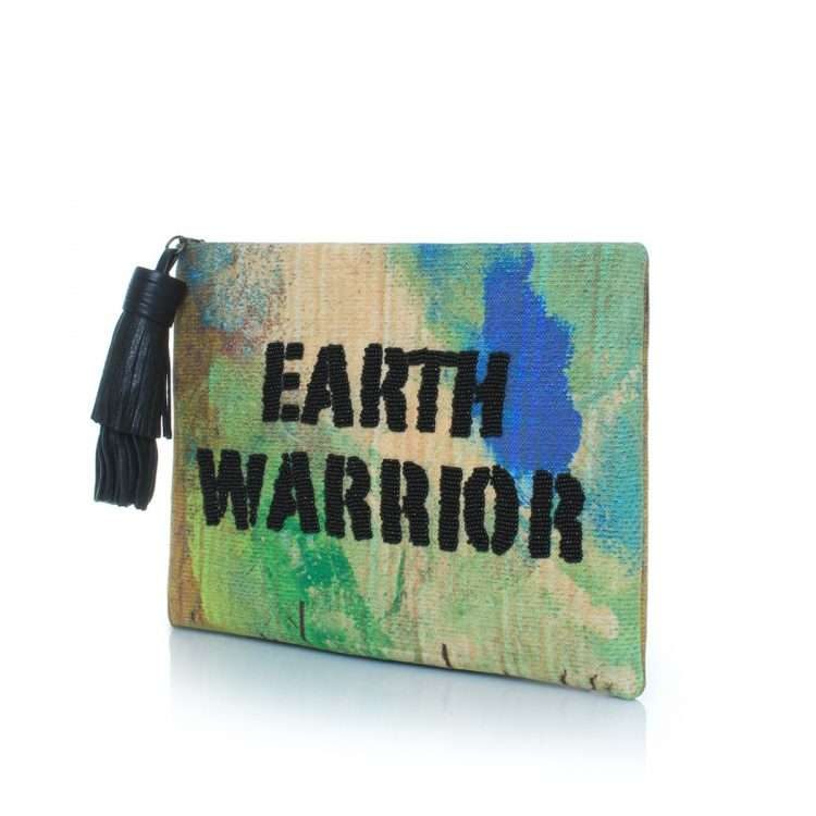 earth warrior pouch bags green multicolor pouch day handwork rise up side
