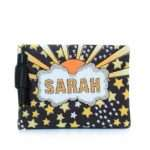 say my name lucky pouch bags multicolor orange pouch day handwork customized front