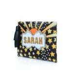 say my name lucky pouch bags multicolor orange pouch day handwork customized side