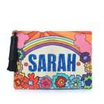 say my name rainbow pouch bags multicolor pouch day handwork customized front