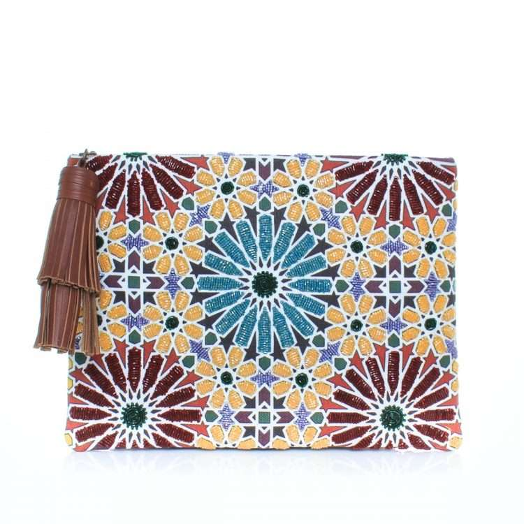 moroccan pouch bags multicolor pouch day handwork oriental front