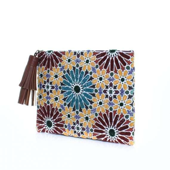 moroccan pouch bags multicolor pouch day handwork oriental side