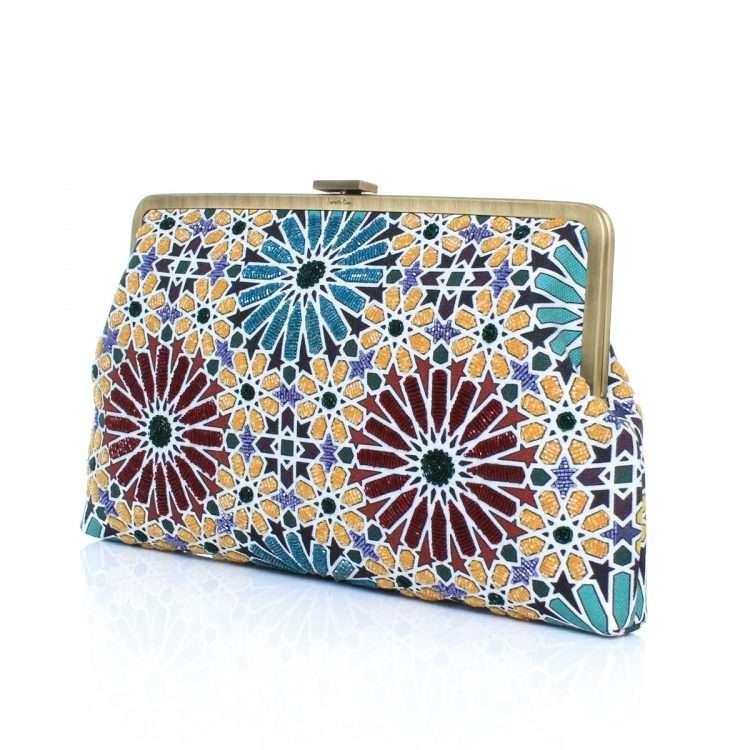 moroccan clutch me bags multicolor clutch me day handwork oriental side