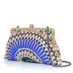 zellige classic bags blue multicolor classic day handwork oriental side