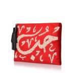 hobb loulou red velvet pouch bags red pouch evening handwork bridal oriental side