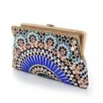 zellige clutch me bags blue multicolor clutch me day handwork oriental open