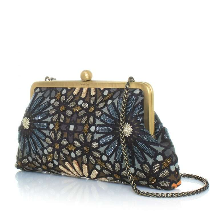 moroccan metallic classic bags gold metallic pouch evening handwork oriental side