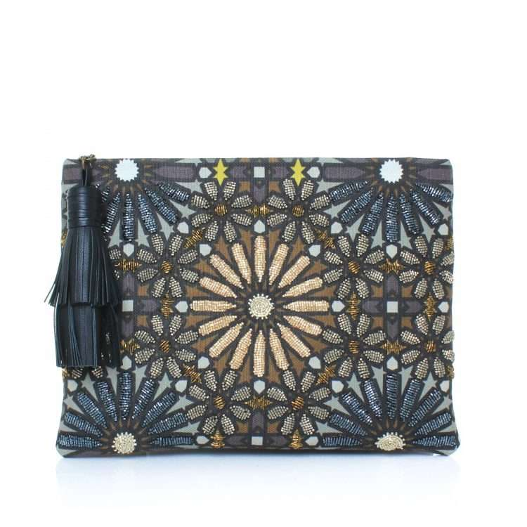 moroccan metallic pouch bags metallic big box evening handwork oriental front