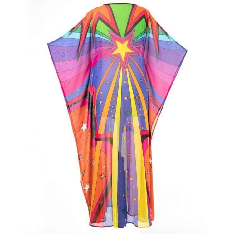 rainbow kaftan back